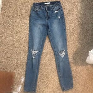 Pacsun blue high waisted jeggings